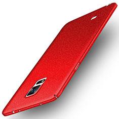 Coque Plastique Rigide Etui Sables Mouvants pour Samsung Galaxy Note 4 Duos N9100 Dual SIM Rouge