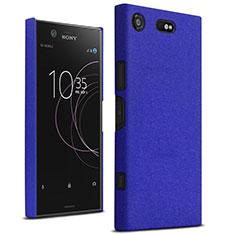 Coque Plastique Rigide Etui Sables Mouvants pour Sony Xperia XZ1 Compact Bleu