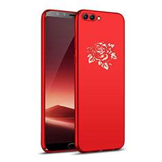 Coque Plastique Rigide Fleurs pour Huawei Nova 2S Rouge