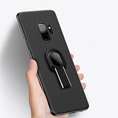 Coque Plastique Rigide Mailles Filet avec Support Bague Anneau pour Samsung Galaxy S9 Noir