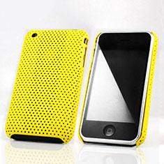Coque Plastique Rigide Mailles Filet pour Apple iPhone 3G 3GS Jaune