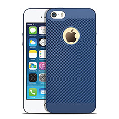 Coque Plastique Rigide Mailles Filet pour Apple iPhone 5S Bleu