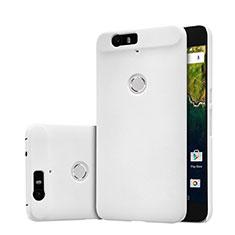 Coque Plastique Rigide Mailles Filet pour Google Nexus 6P Blanc