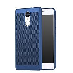 Coque Plastique Rigide Mailles Filet pour Huawei Enjoy 6 Bleu