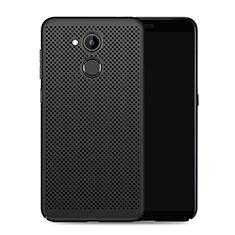 Coque Plastique Rigide Mailles Filet pour Huawei Honor 6C Pro Noir