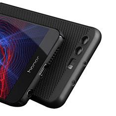 Coque Plastique Rigide Mailles Filet pour Huawei Honor 8 Noir