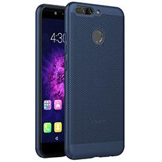 Coque Plastique Rigide Mailles Filet pour Huawei Honor 8 Pro Bleu