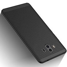 Coque Plastique Rigide Mailles Filet pour Huawei Mate 10 Noir