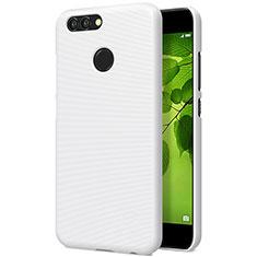 Coque Plastique Rigide Mailles Filet pour Huawei Nova 2 Plus Blanc