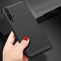 Coque Plastique Rigide Mailles Filet pour Huawei Nova 5T Noir