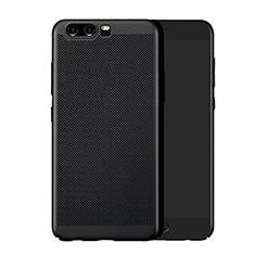 Coque Plastique Rigide Mailles Filet pour Huawei P10 Plus Noir