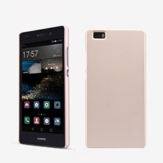 Coque Plastique Rigide Mailles Filet pour Huawei P8 Lite Or Rose