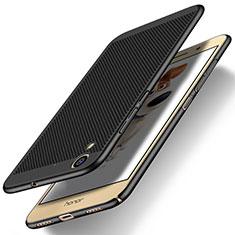 Coque Plastique Rigide Mailles Filet pour Huawei Y6 II 5.5 Noir