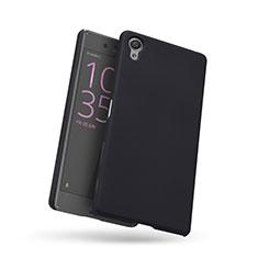 Coque Plastique Rigide Mailles Filet pour Sony Xperia X Noir