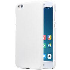 Coque Plastique Rigide Mailles Filet pour Xiaomi Mi 5C Blanc