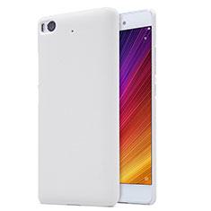 Coque Plastique Rigide Mailles Filet pour Xiaomi Mi 5S Blanc