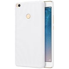 Coque Plastique Rigide Mailles Filet pour Xiaomi Mi Max 2 Blanc