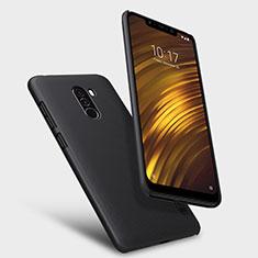 Coque Plastique Rigide Mailles Filet pour Xiaomi Pocophone F1 Noir
