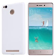 Coque Plastique Rigide Mailles Filet pour Xiaomi Redmi 3X Blanc
