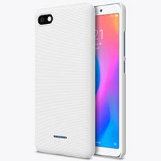 Coque Plastique Rigide Mailles Filet pour Xiaomi Redmi 6A Blanc