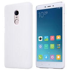 Coque Plastique Rigide Mailles Filet pour Xiaomi Redmi Note 4 Blanc