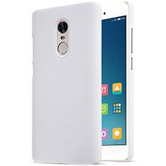 Coque Plastique Rigide Mailles Filet pour Xiaomi Redmi Note 4 Standard Edition Blanc