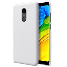 Coque Plastique Rigide Mailles Filet pour Xiaomi Redmi Note 5 Indian Version Blanc