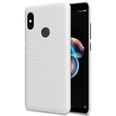 Coque Plastique Rigide Mailles Filet pour Xiaomi Redmi Note 5 Pro Blanc