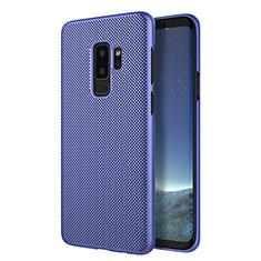 Coque Plastique Rigide Mailles Filet R01 pour Samsung Galaxy S9 Plus Bleu