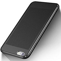 Coque Plastique Rigide Mailles Filet W01 pour Apple iPhone 6S Plus Noir