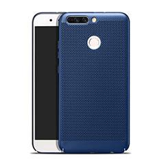 Coque Plastique Rigide Mailles Filet W01 pour Huawei Honor V9 Bleu