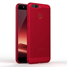 Coque Plastique Rigide Mailles Filet W01 pour Huawei Honor V9 Rouge