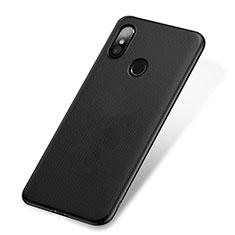 Coque Plastique Rigide Mailles Filet W01 pour Xiaomi Mi 8 Noir