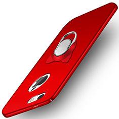 Coque Plastique Rigide Mat avec Support Bague Anneau A01 pour Apple iPhone 5S Rouge
