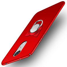 Coque Plastique Rigide Mat avec Support Bague Anneau A02 pour Huawei Enjoy 6 Rouge