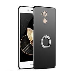 Coque Plastique Rigide Mat avec Support Bague Anneau A02 pour Huawei Enjoy 6S Noir