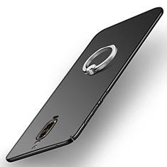 Coque Plastique Rigide Mat avec Support Bague Anneau A02 pour Huawei Mate 9 Pro Noir