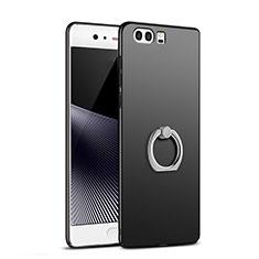 Coque Plastique Rigide Mat avec Support Bague Anneau A02 pour Huawei P10 Plus Noir