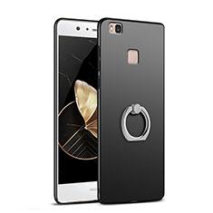 Coque Plastique Rigide Mat avec Support Bague Anneau A02 pour Huawei P9 Lite Noir