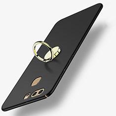 Coque Plastique Rigide Mat avec Support Bague Anneau A02 pour Huawei P9 Noir