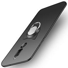 Coque Plastique Rigide Mat avec Support Bague Anneau A02 pour Huawei Rhone Noir
