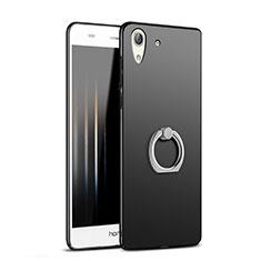 Coque Plastique Rigide Mat avec Support Bague Anneau A02 pour Huawei Y6 II 5.5 Noir