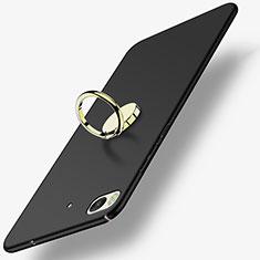 Coque Plastique Rigide Mat avec Support Bague Anneau A02 pour Xiaomi Mi 5S 4G Noir