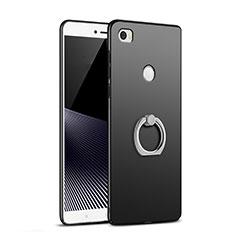 Coque Plastique Rigide Mat avec Support Bague Anneau A02 pour Xiaomi Mi Max Noir