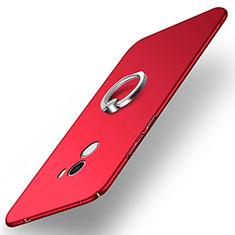 Coque Plastique Rigide Mat avec Support Bague Anneau A02 pour Xiaomi Mi Mix Rouge