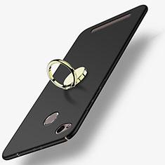 Coque Plastique Rigide Mat avec Support Bague Anneau A02 pour Xiaomi Redmi 3 Pro Noir