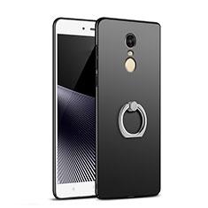 Coque Plastique Rigide Mat avec Support Bague Anneau A02 pour Xiaomi Redmi Note 4 Noir