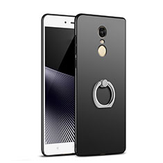 Coque Plastique Rigide Mat avec Support Bague Anneau A02 pour Xiaomi Redmi Note 4X Noir