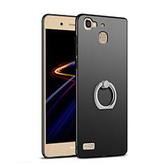 Coque Plastique Rigide Mat avec Support Bague Anneau A03 pour Huawei Enjoy 5S Noir
