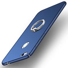 Coque Plastique Rigide Mat avec Support Bague Anneau A03 pour Huawei GR3 (2017) Bleu